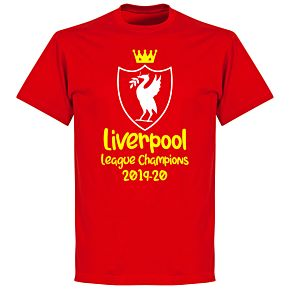 Liverpool 2020 League Champions Crest 2 KIDS T-shirt - Red