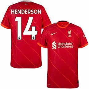 21-22 Liverpool Dri-Fit ADV Match Home Shirt + Henderson 14
