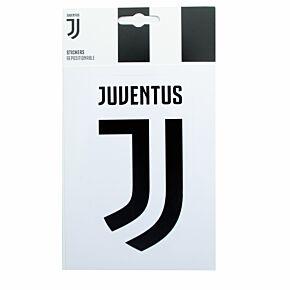 Juventus Crest Sticker - white/Black (Approx 13cm x 7cm)