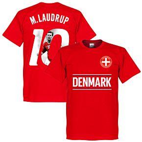 Denmark M. Laudrup 10 Gallery Team Tee - Red