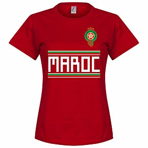 Morocco Team Womens Tee - Red