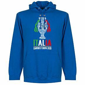Italia Champions of Europe 2020 Hoodie - Royal Blue