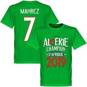 Algeria Champions of Africa Mahrez 7 Tee - Green