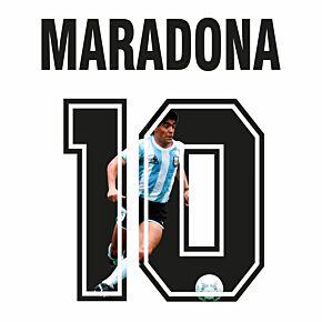 Maradona 10 (Retro Gallery Style)