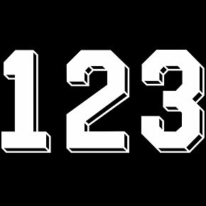 Retro Shadow Style White Numbers