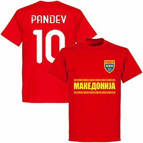 Macedonia Pandev 10 Team T-shirt - Red