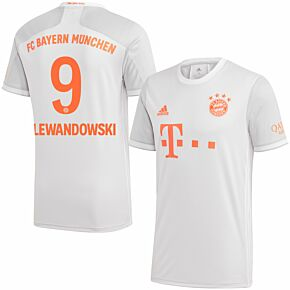 20-21 Bayern Munich Away Shirt + Lewandowski 9 (Official Printing)
