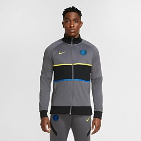 20-21 Inter Milan UCL I96 Anthem Jacket - Dark Grey/Black