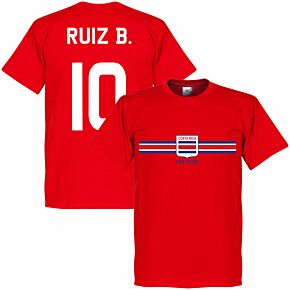 Costa Rica Ruiz B. Team Tee - Red