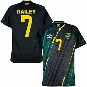 21-22 Jamaica Away Shirt + Bailey 7 (Fan Style Printing)