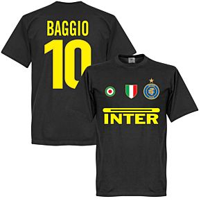 Inter Baggio 10 Team Tee - Black