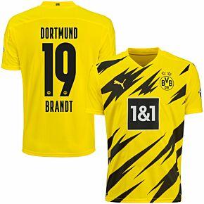 20-21 Borussia Dortmund Home Shirt + Brandt 19