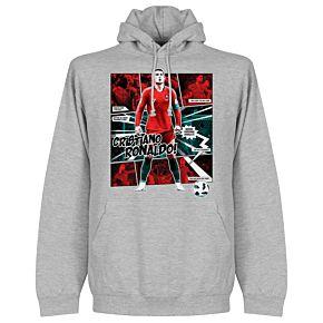 Ronaldo Comic Hoodie - Grey College