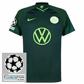 21-22 VFL Wolfsburg Away Shirt + UCL Starball + UEFA Foundation Patches