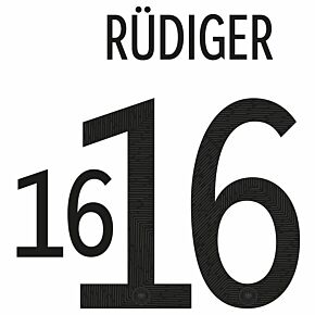 Rüdiger 16 (Official Printing) - 20-21 Germany Home