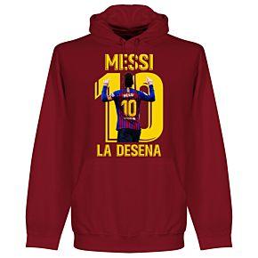 Messi La Desena Hoodie - Dark Red