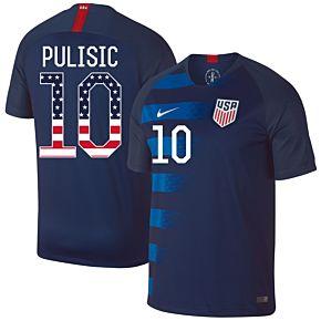 USA Away Pulisic 10 Jersey 2018 / 2019 (Stars & Stripes Fan Style Printing)