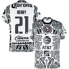20-21 Club America 3rd Shirt + Henry 21 (Fan Style Printing)
