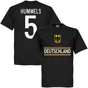 Germany Hummels 5 Team Tee - Black