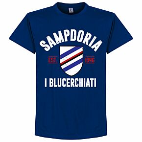 Sampdoria Established Tee - Ultra Marine Blue