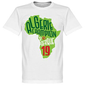 Algeria Champions of Africa Map Tee - White/Light