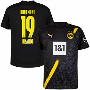 20-21 Borussia Dortmund Away Shirt + Brandt 19 (Official Printing)