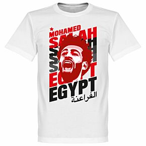 Salah Egypt Portrait Tee - White