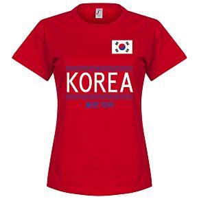 Korea Team Womens Tee - Red