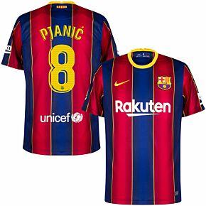 20-21 Barcelona Home Shirt + Pjanić 8 (Match Pro Printing)