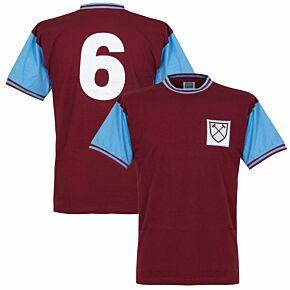 1966 West Ham Home Retro Shirt + No. 6