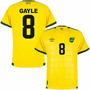21-22 Jamaica Home Shirt + Gayle 8 (Fan Style Printing)