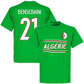 Algeria Bensebaini 21 Team T-shirt - Green
