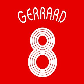 Gerrard 8 - 06-07 Liverpool Home Champions League Official Name and Number