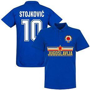 Yugoslavia Stojkovic Team Polo Shirt - Royal