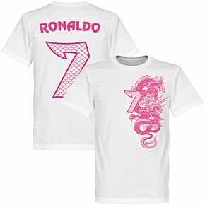 Ronaldo 7 Dragon Tee - White/Pink