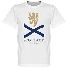 Scotland The Brave Saltire Tee - White