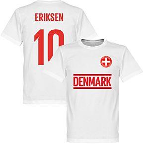 Denmark Eriksen 10 Team Tee - White