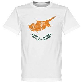 Cyprus Flag Tee - White