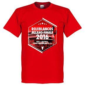2016 Rojiblancos Milano Finale Tee - Red