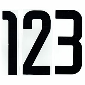 Cut-out Team Kit Numbers - Black