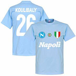 Napoli Koulibaly 26 Team Tee - Sky