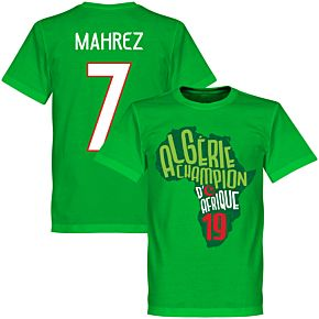 Algeria Champions of Africa Mahrez 7 Map Tee - Green