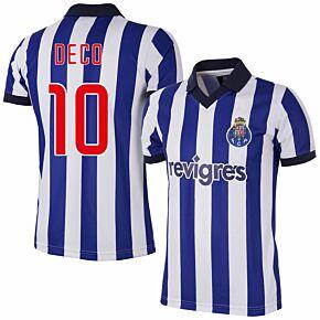 2002 FC Porto Home Retro Shirt + Deco 10 (Retro Flex Printing)