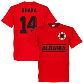 Albania Xhaka 14 Team T-Shirt - Red