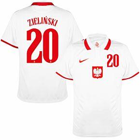 20-21 Poland Home Shirt + Zieliński 20 (Official Printing)
