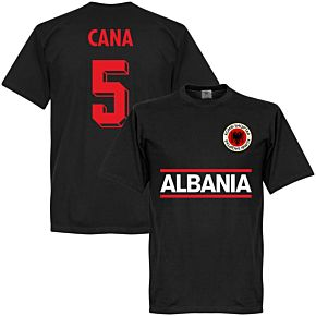Albania Cana 5 Team Tee - Black