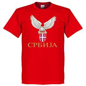 Serbia Crest Tee - Red
