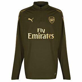 18-19 Arsenal 1/4 Zip Training Top - Green - Kids