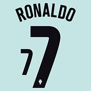 Ronaldo 7 (Official Printing) - 20-21 Portugal Away