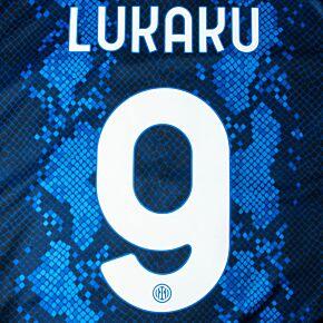 Lukaku 9 (Official Printing) - 21-22 Inter Milan Home